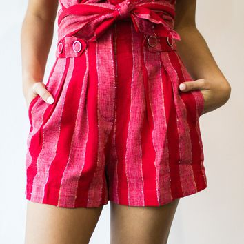 Fiesta Stripe Button Shorts