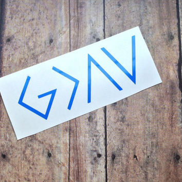 Grand Opening Sale! God is Greater Than the Highs and Lows Decal, Christian Decal Laptop Sticker, Custom Vinyl Sticker, Personalized Decal