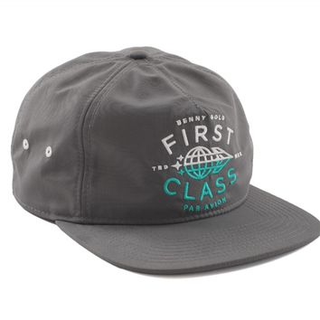 First Class Cool Grey Nylon Snapback Hat - Shop | Benny Gold