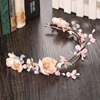 Floral Headwear Korean Hair Clip Beach Vacation Pastoral Style Hairband [9284023044]