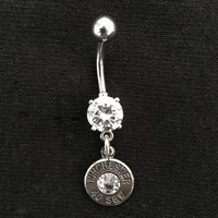 Bullet Dangle Belly Button Ring