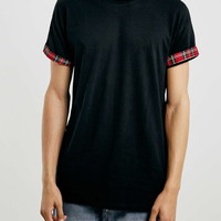 Black Tartan Roller T-Shirt - New In