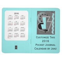2016 Pale Turquois Pocket Journal Calendar by Janz