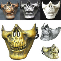 Costume Halloween Skull Mask Motorcycle Half Face Masks Novelty Fashion Decro