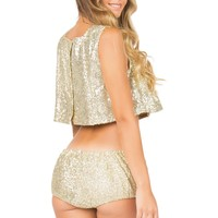 Lolli Swim Gold Bloomies Shorts