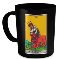 Strength Tarot Card Coffee Cup Mug strengthmug