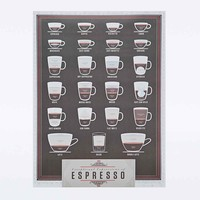 Pop Chart Lab Espresso Poster - Urban Outfitters