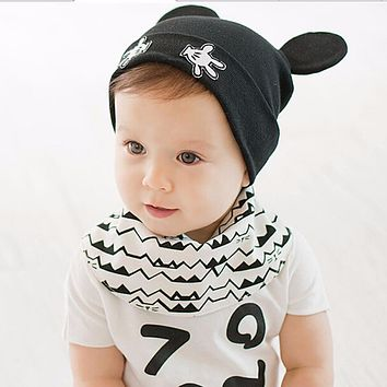 Baby Hats Autumn Winter Warm Knitted Caps Newborn Cartoon Lovely Mouse Boys Girls Beanie Infant Cotton Hat