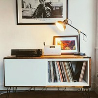 Record player stand from IKEA BESTÅ and pallet wood - IKEA Hackers