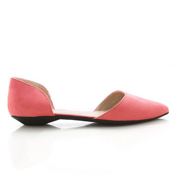 Suede Point Dorsay Flats