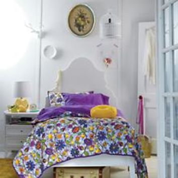 Kids' Beds: White Oversized Headboard with Beveled Curves in Monarch Collection | The Land of Nod