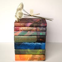 Harry Potter Roses - Complete Series Set - One Rose from Each Book in the Series - Flowers Handmade from Book Pages