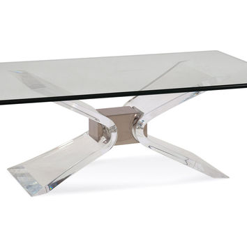 Denmark Cocktail Table, Acrylic / Lucite, Coffee Table Base, Sofa Table