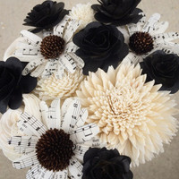 Casey Kohler :: Small Silent Film Bouquet :: No Black :: Replace with Teal ***Boost Your Bouquet*** 18 flowers
