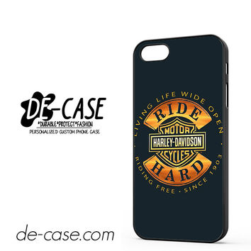 Harley Davidson Motorcycles Ride Hard since 1903 DEAL-5050 Apple Phonecase Cover For Iphone 5 / Iphone 5S