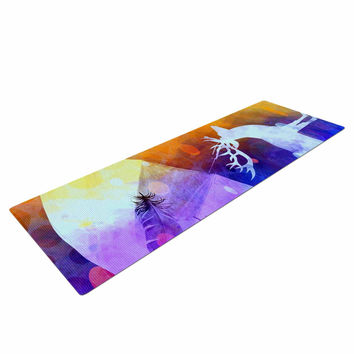 "alyZen Moonshadow ""Rain Deer"" Yellow Blue Yoga Mat"