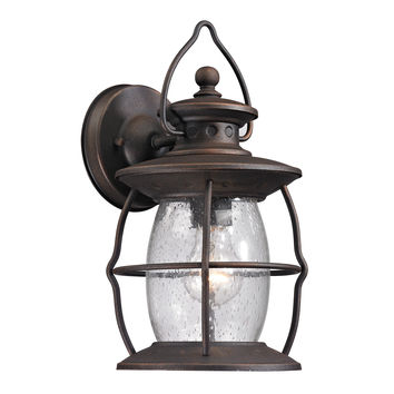 ELK Village Lantern Collection 1 light outdoor sconce in Weathered Charcoal - 47040/1