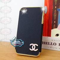 Black iPhone 4 Case Cell Phone Cover iPhone 4s Cover Studded iPhone Case Plastic Cover Personalized Samsung Galaxy Case