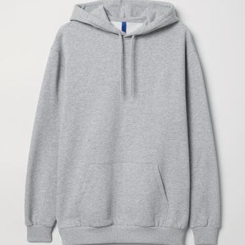 Hooded Sweatshirt - Grey marl - Men | H&M US