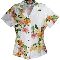 rain hawaiian lady blouse