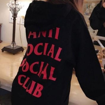 Anti Social Social Club Chest Flag Men And Women Sweater Jacket