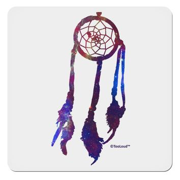 "Graphic Feather Design - Galaxy Dreamcatcher 4x4"" Square Sticker by TooLoud"