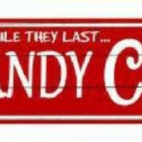 Candy Cane Christmas Arrow Street Sign