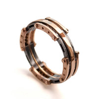 Steampunk Men's Ring Band