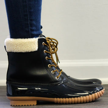 Duck Boot, Black