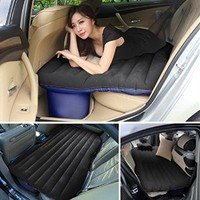 Ancheer Inflatable Car Mattress Car Mobile Cushion Travel Air Bed Camping Car Back Seat Extended Mattress with Air Pump, Repair Pad, Glue Kits