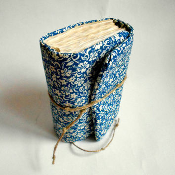 Blue Ethnic flowers Journal,Handmade Diary, Travel Book, Old Paper, Pregnancy journals, Notebooks,