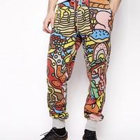Lazy Oaf Sweatpants in All you Can Eat Print
