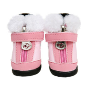 Puppy Angel Winter Dog Boots in Pink