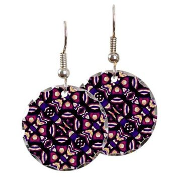 Colorful Tribal Pattern Print Earring