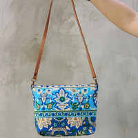Cross-body Summer bag Colorful Neon Printed Tribal bag Tote bag Canvas Hobo Hippie bag Weekender bag Beach bag Bag Boho Backpack Purse,