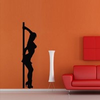 Wall Decal Decor Art Decals Sticker Girl Pole Striptease Dancing Restaurant Bar Club Entertainment (M248)
