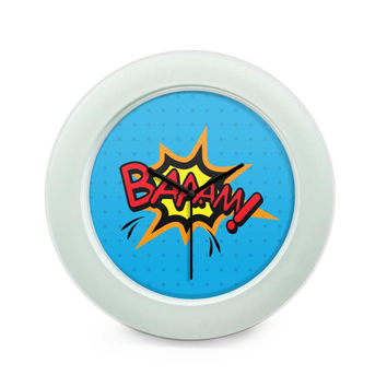 Baaam Comic Sound Quirky Illustration Table Clock