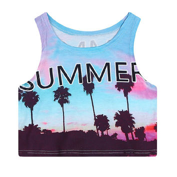 Cali Summer Crop Top CT-125