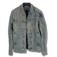 Indie Designs Rick Owens Inspired Funnel Neck Denim Jacket