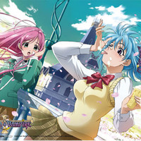 Moka and Kurumu Ice Cream Rosario to Vampire Wall Scroll