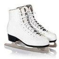 Magnetic Ceramic Tile Sublimation - 2x2 - Sports - White Figure Skates - 1023