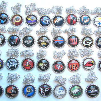 Christmas Ornaments Bottle Cap Ornaments NFL Inspired Ornaments All 32 Teams