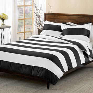 Superior 600 Thread Count Cabana Stripe Cotton Blend Duvet Cover Set | Overstock.com Shopping - The Best Deals on Duvet Covers