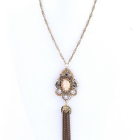 Topaz Tassel Necklace