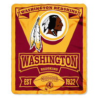 Washington Redskins NFL Light Weight Fleece Blanket (Marque Series) (50inx60in)