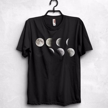 Various Lunar Phases Moon T Shirt Top Science Geek Nerd Gift Astronomy Space Cotton T-Shirt Fashion Free Shipping