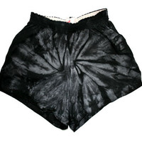 Acid Black Tie Dye Shorts