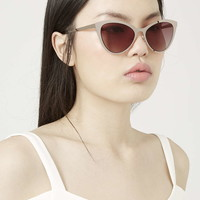 Flat Metal Cateye Sunglasses - Topshop