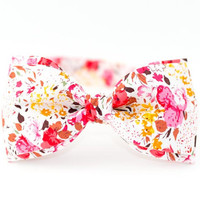 Bow Tie by BartekDesign Bright Pink Flowers