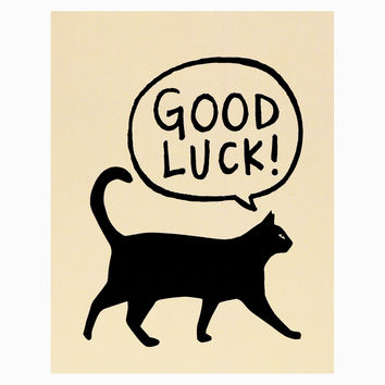 Good Luck Black Cat Greeting Card